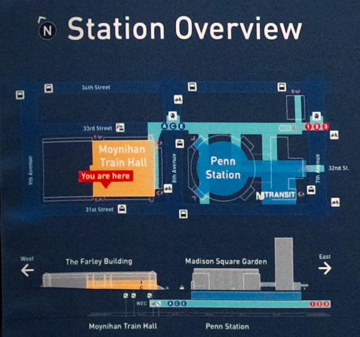 Penn Station map