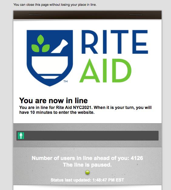 Screenshot of the RiteAid site