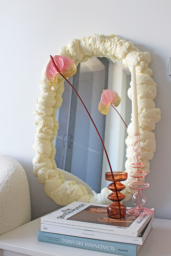 a spray foam mirror