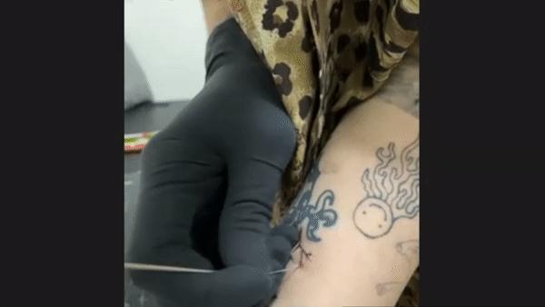 tattoo, diy, homemade, stick and poke, hand poke, machine, quarantine