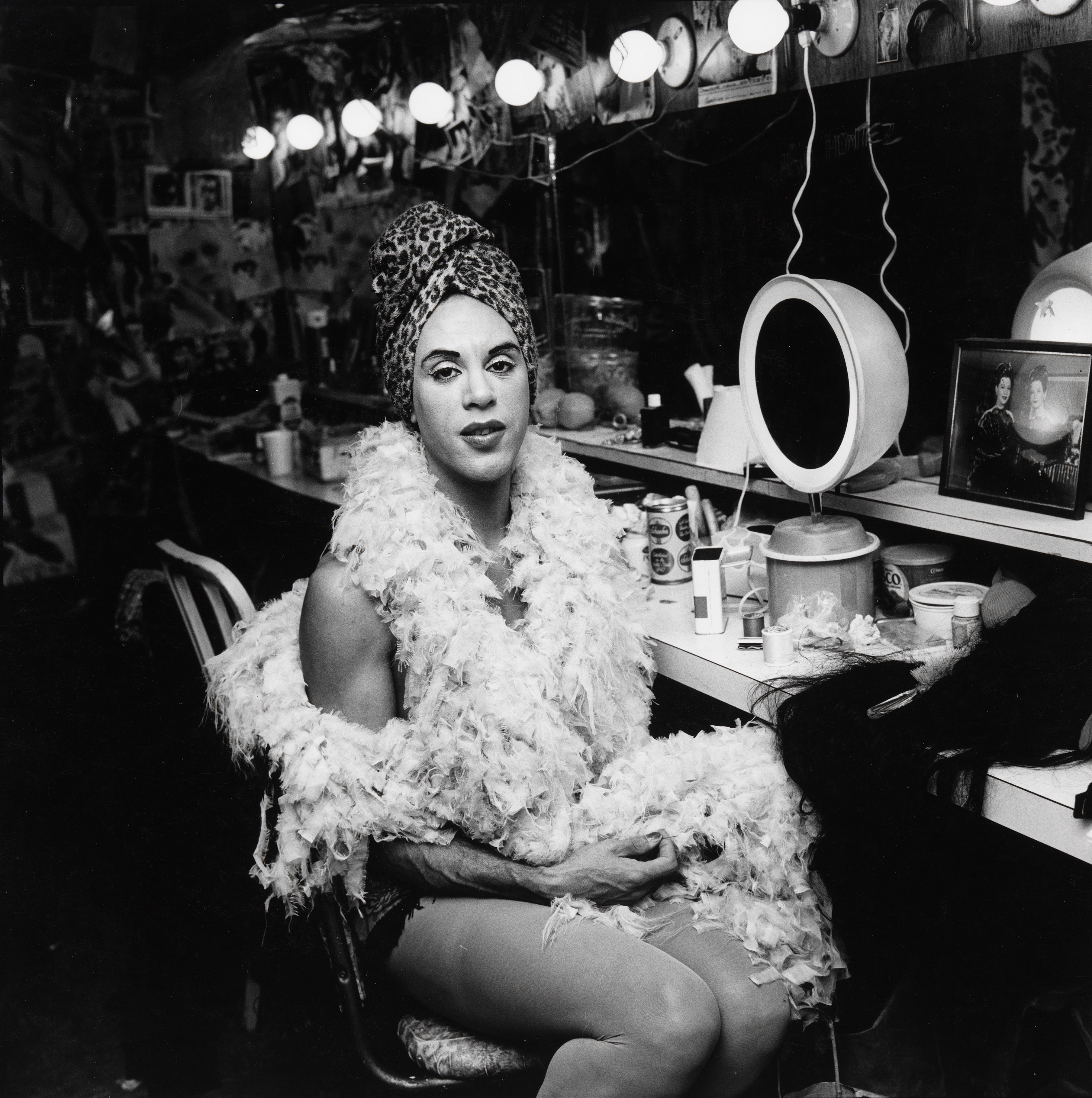 Mario Montez Backstage at the Palm Casino Revue, 1974 © 1987 The Peter Hujar Archive LLC, courtesy The Peter Hujar Archive and Maureen Paley, London