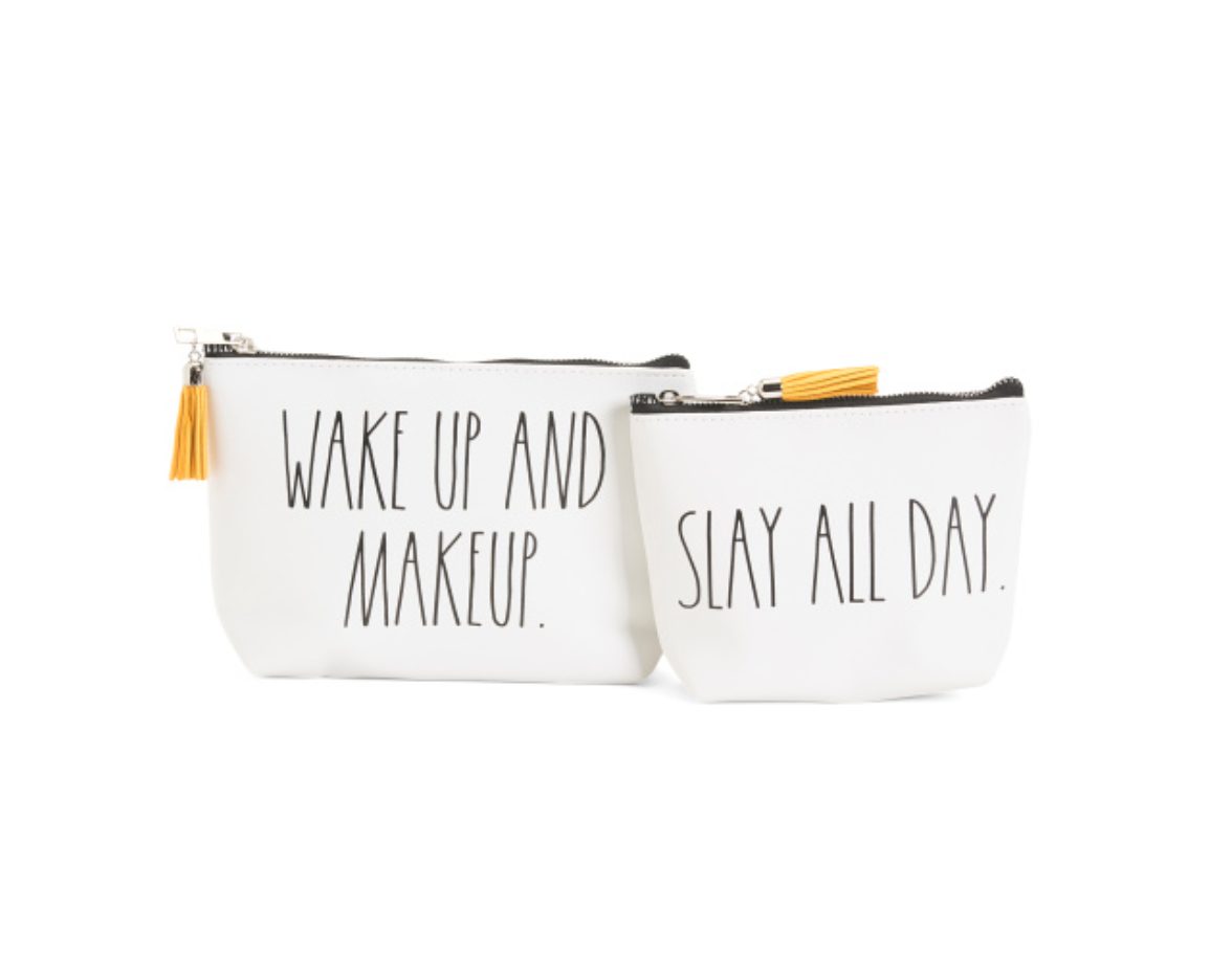 Rae Dunn Set Of 2 Slay Makeup Pouches
