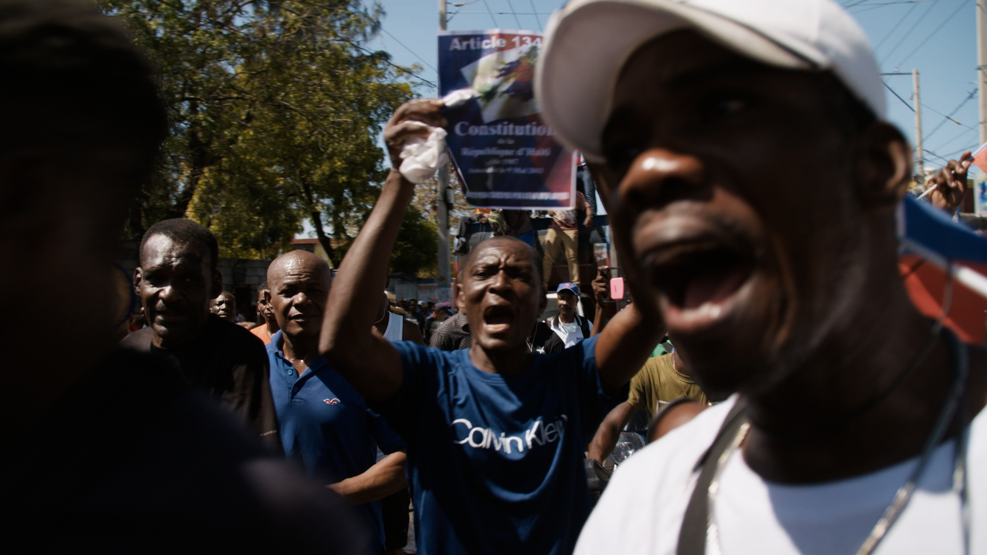 For weeks, protesters have been demanding President Jovenel Moïse step down. (Photo: Samuel Stonefield/VICE News)