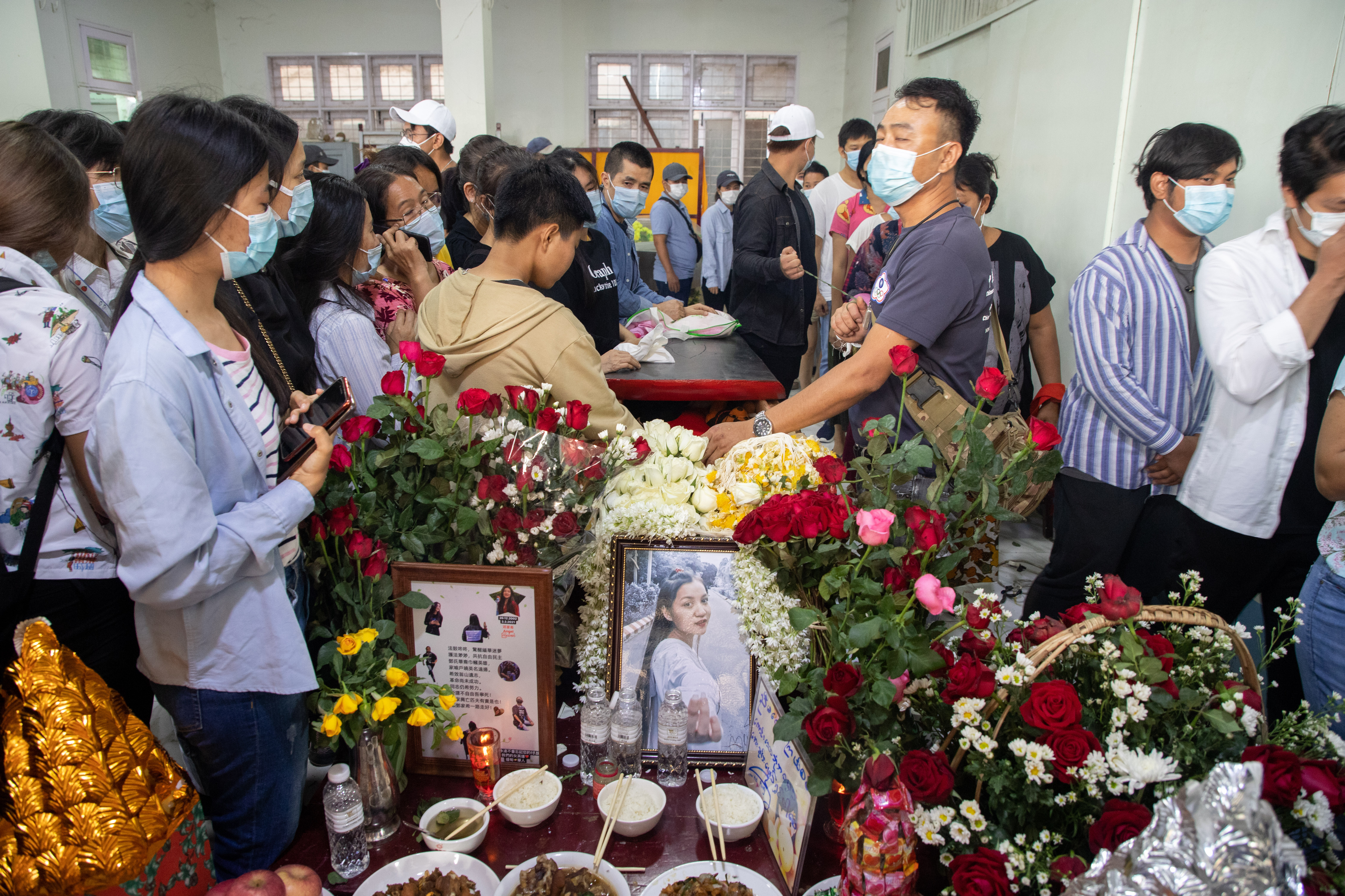 Angel's funeral. PHOTO: STRINGER