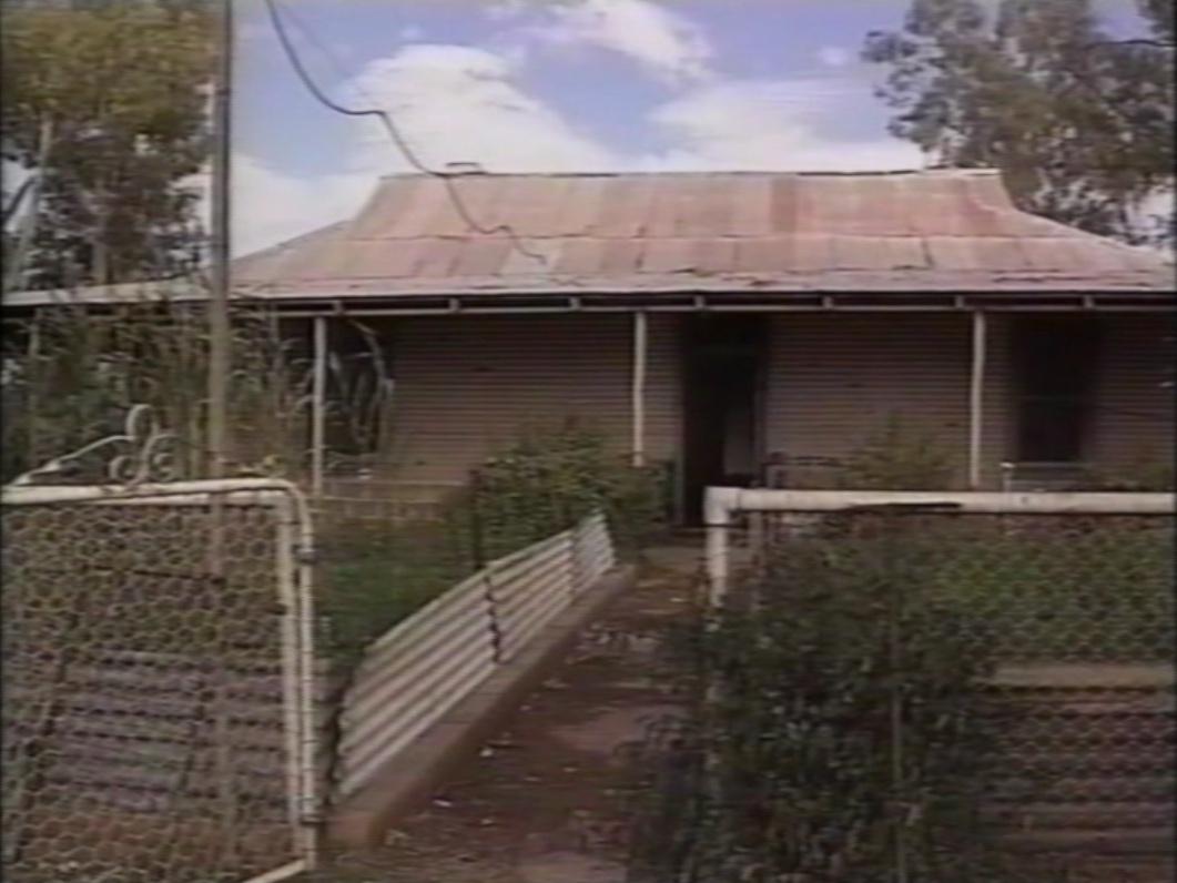 Bangunan terbengkalai di peternakan domba Australia
