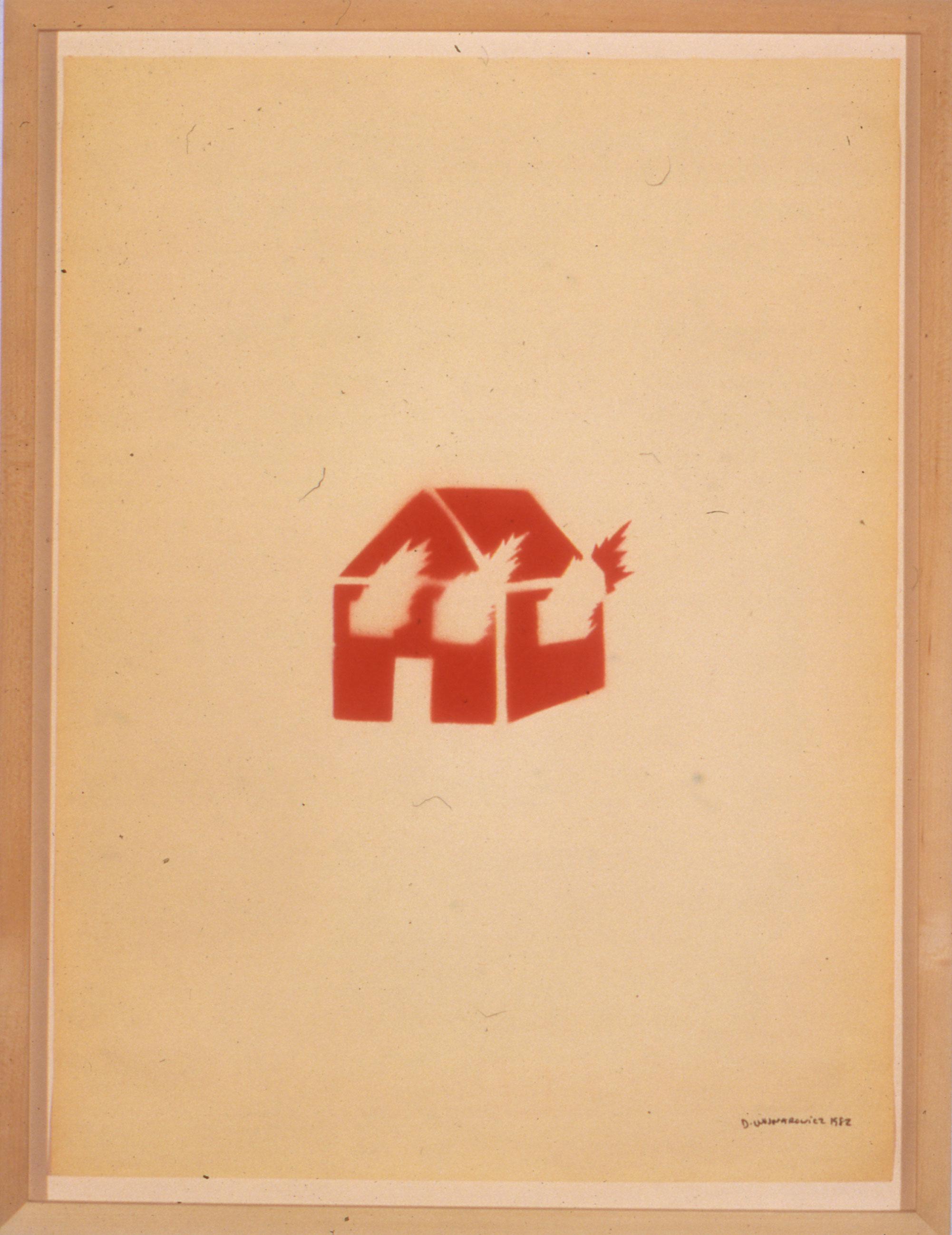 David Wojnarowicz Untitled (Burning House), 1982 © Estate of David Wojnarowicz. Courtesy of the Estate and P.P.O.W