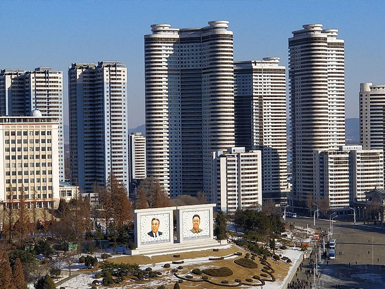Pyongyang Skyline as seen from the Grand People's Study House National Library in Pyongyang..jpg