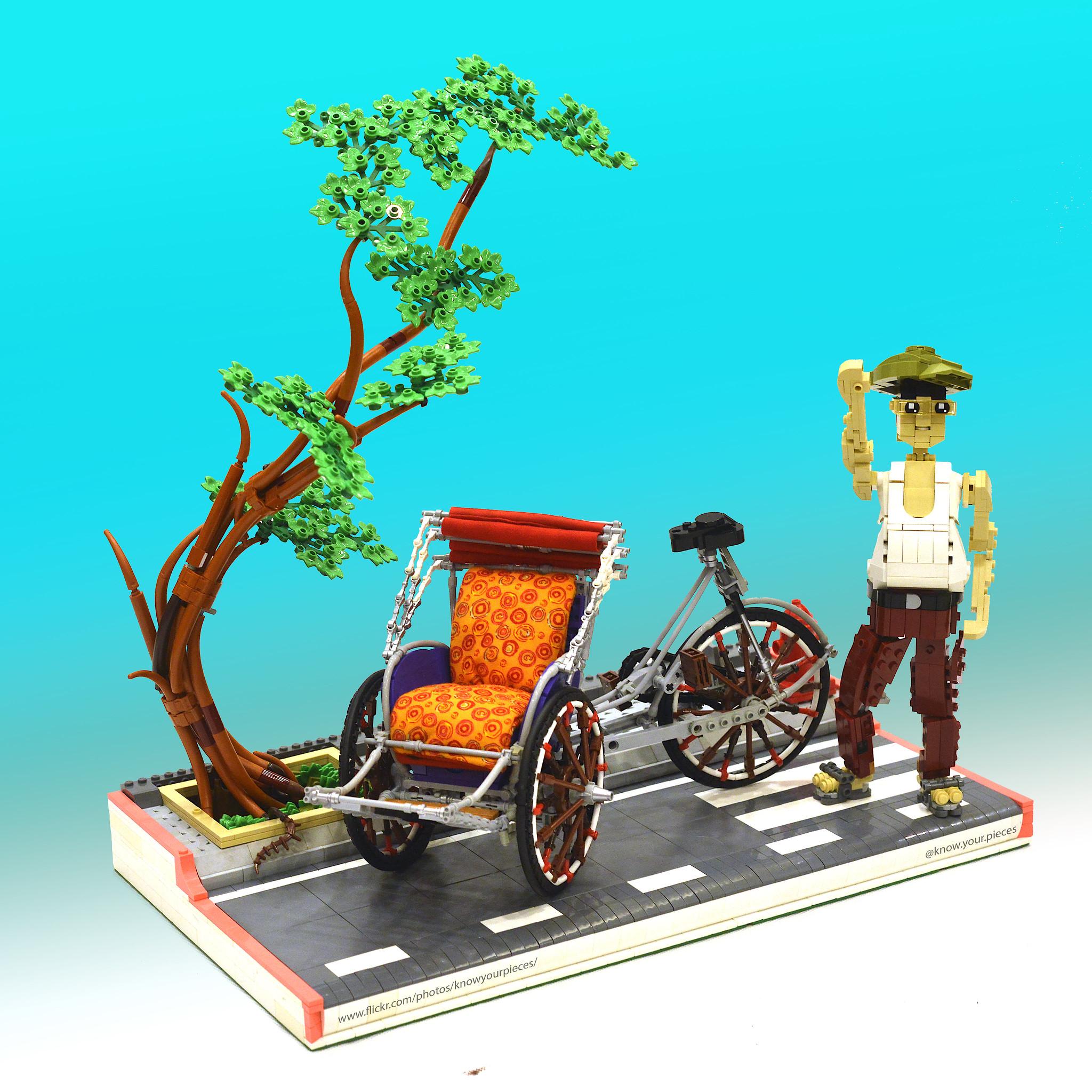Miniatur tukang becak LEGO