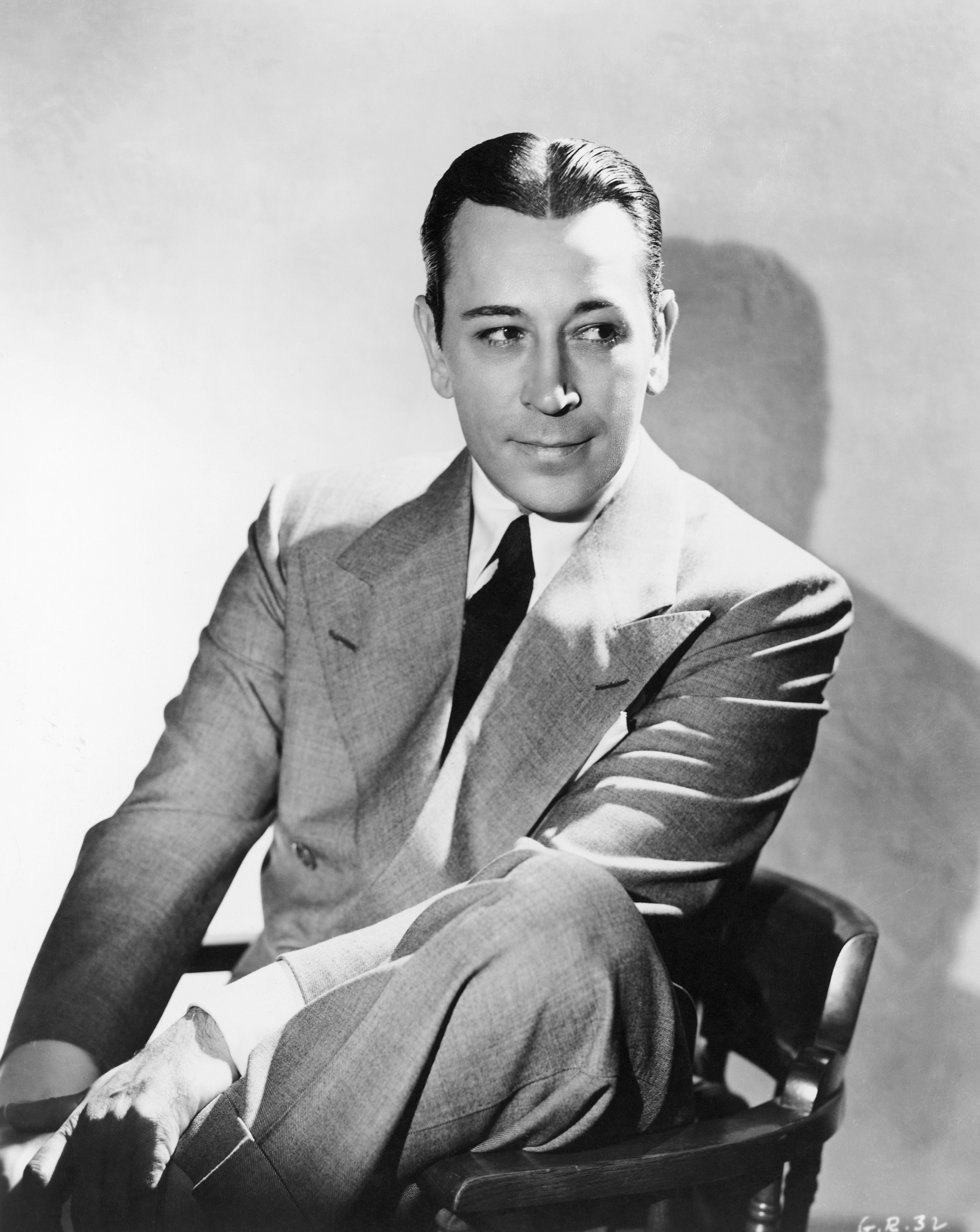 George Raft in black and white