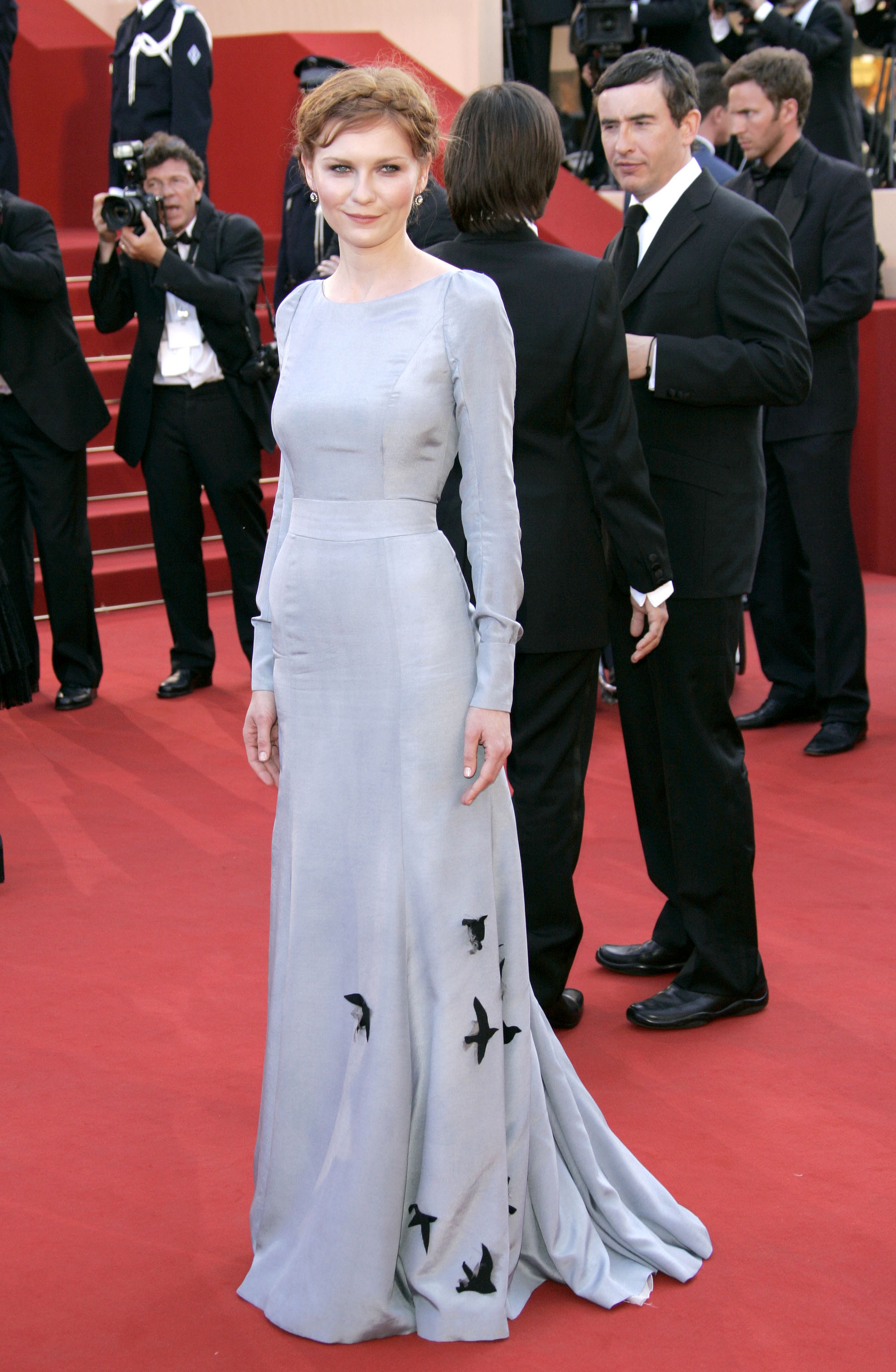 kirsten dunst on the red carpet at the cannes premiere of marie antoinette