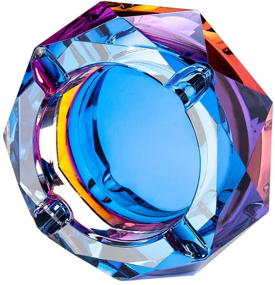 Rainbow Crystal Ashtray