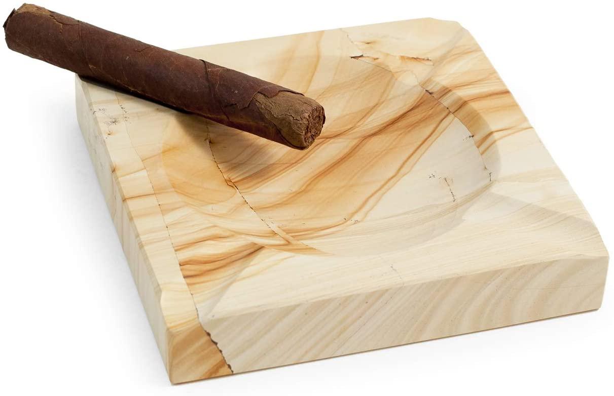 beige cigar ashtray