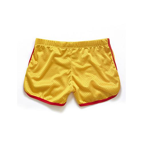 Men's short shorts yellow
