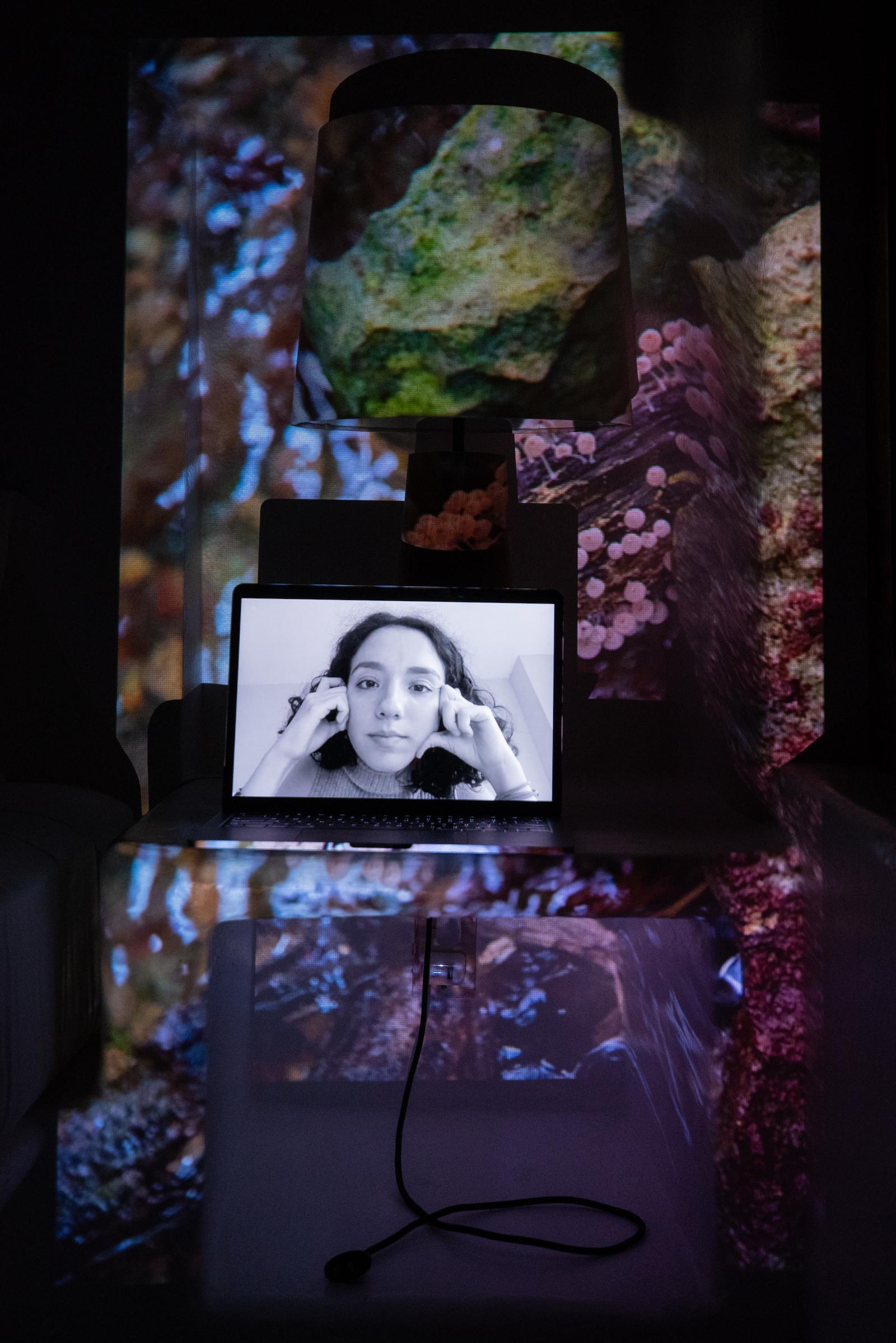 Valentina Prada, Fridays for Future Organizer, Co-Founder Latinas for Climate. Projected Image: En el Arroyo de los Monos, Lacandon Jungle, Mexico, March 2019.