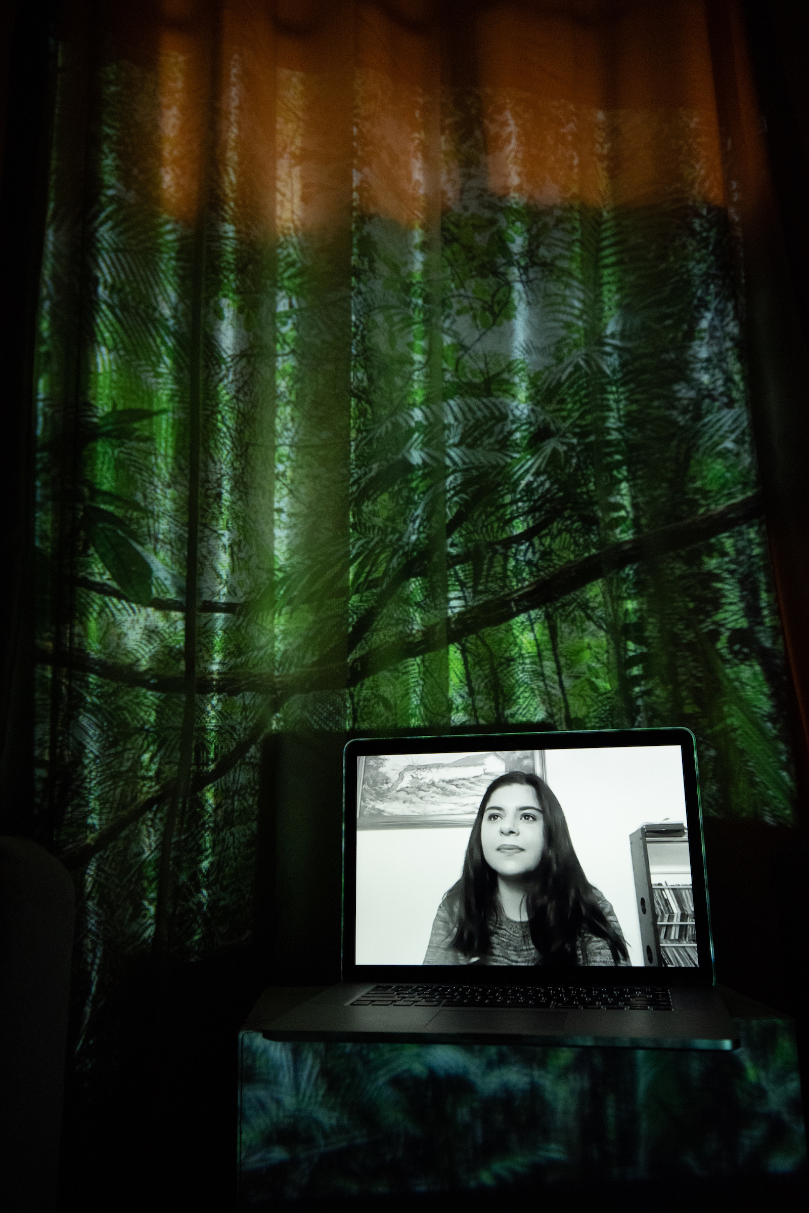 Sofía Hernández, Re-Earth Initiative Co-Founder, Fridays For Future Organizer. Projected Image: En la Selva, Lacandon Jungle, Mexico, December 2020.