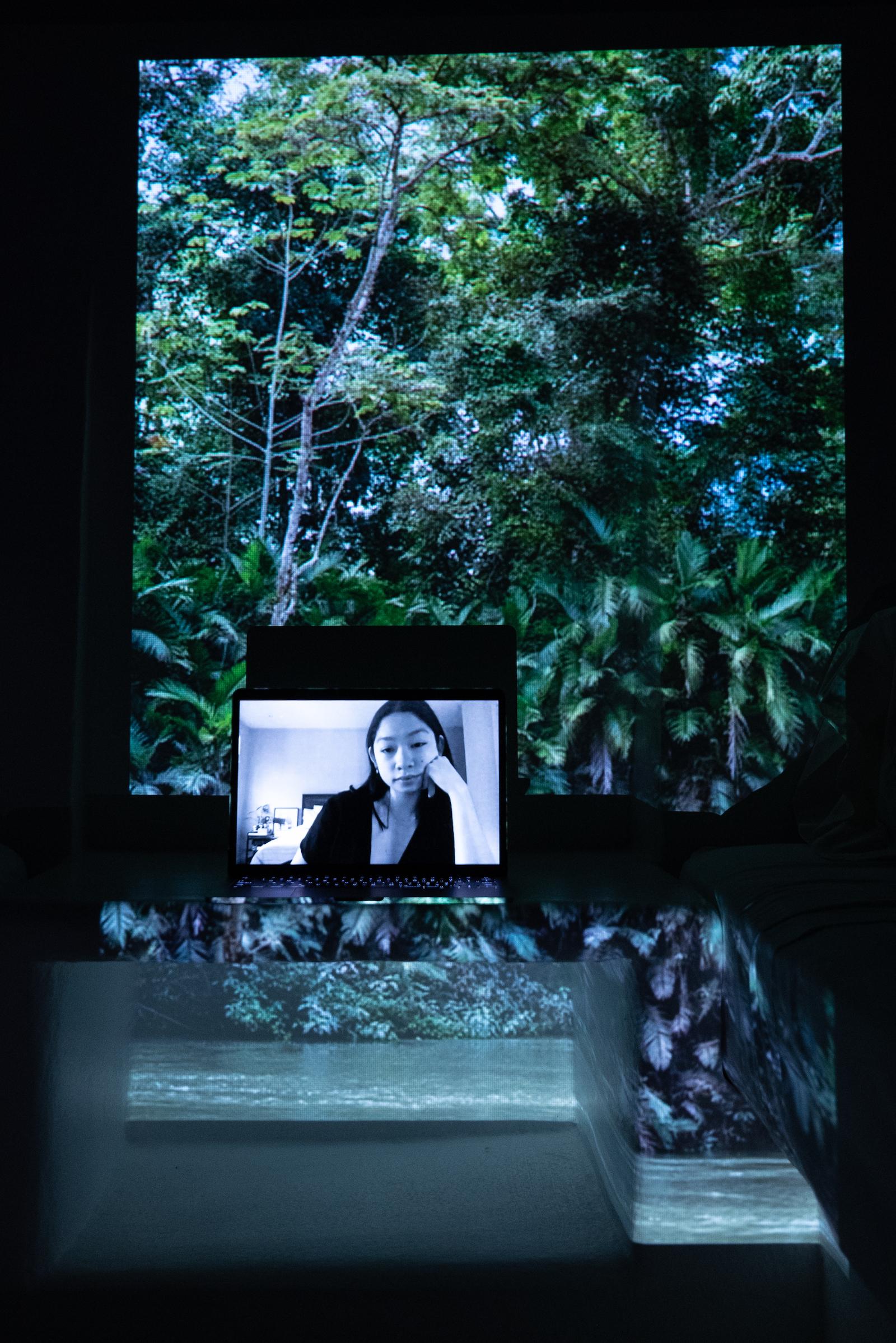 Tara Santos, Extinction Rebellion Philippines National Coordinator. Projected Image: Inundación En Chajul, Lacandon Jungle, Mexico, December 2020.