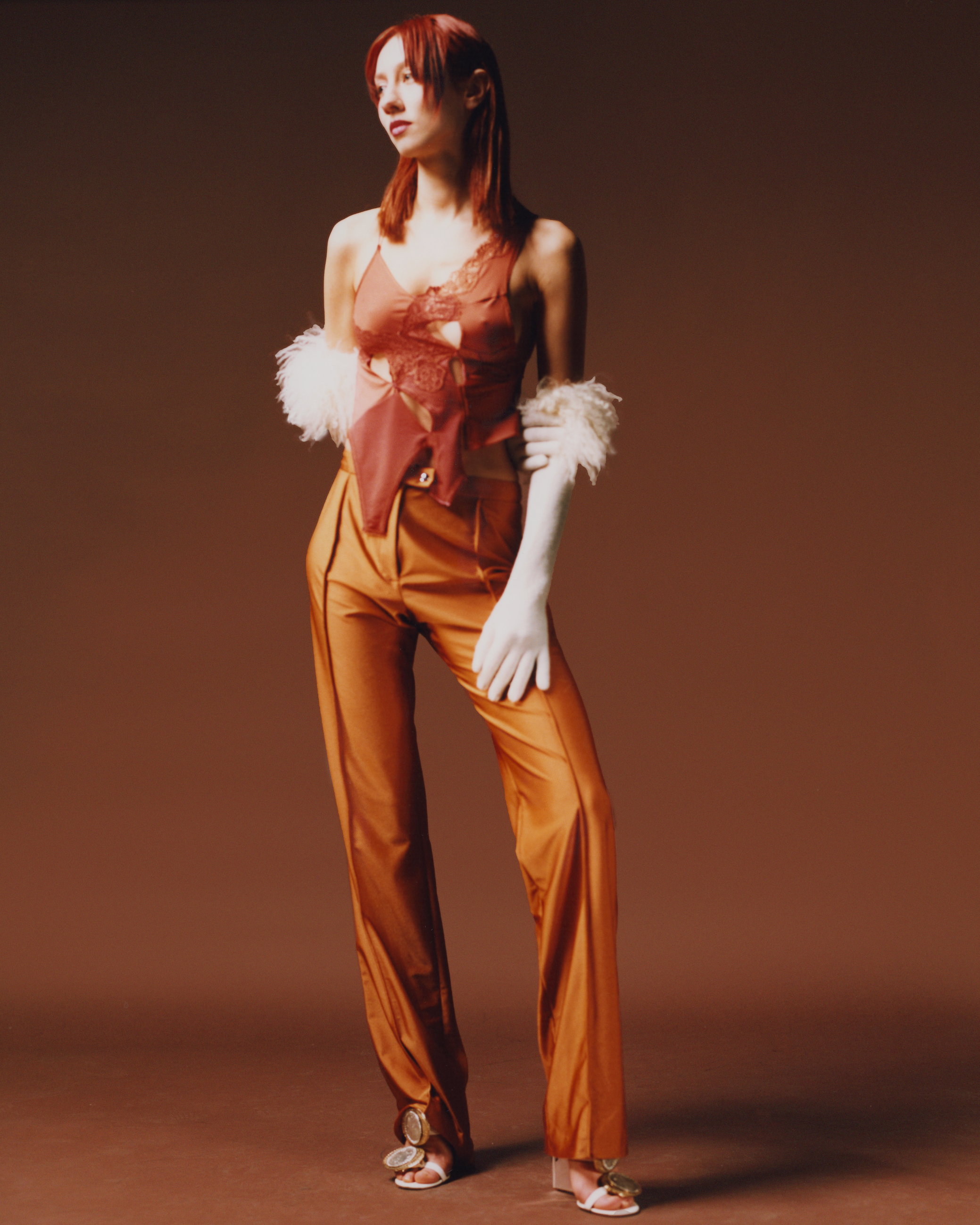 model wearing vaillant studio's aw21 collection