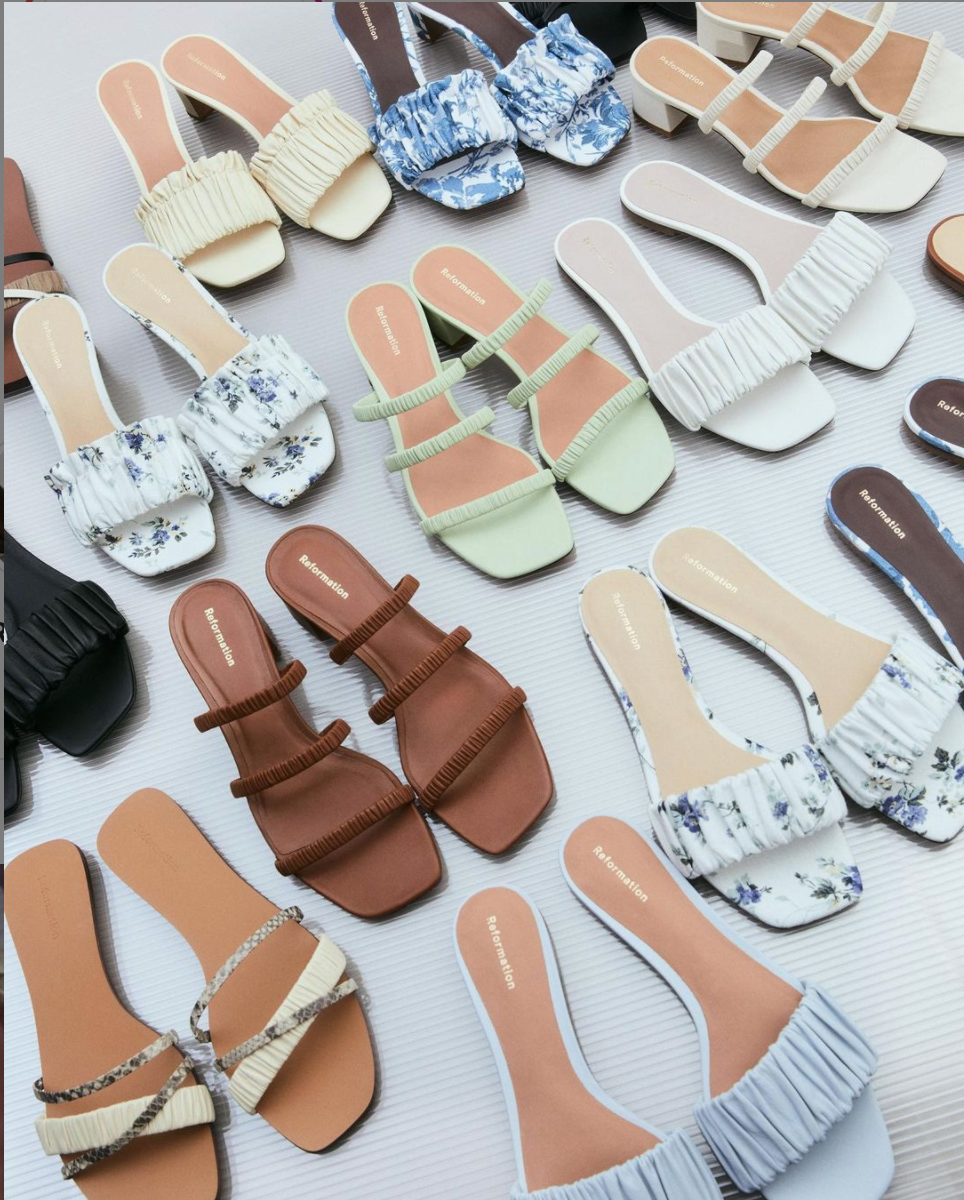 strappy summery shoes by Reformation