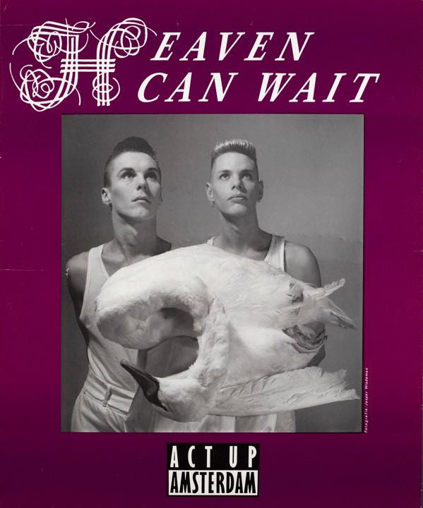 heaven can wait act up amsterdam poster aids activism.jpg