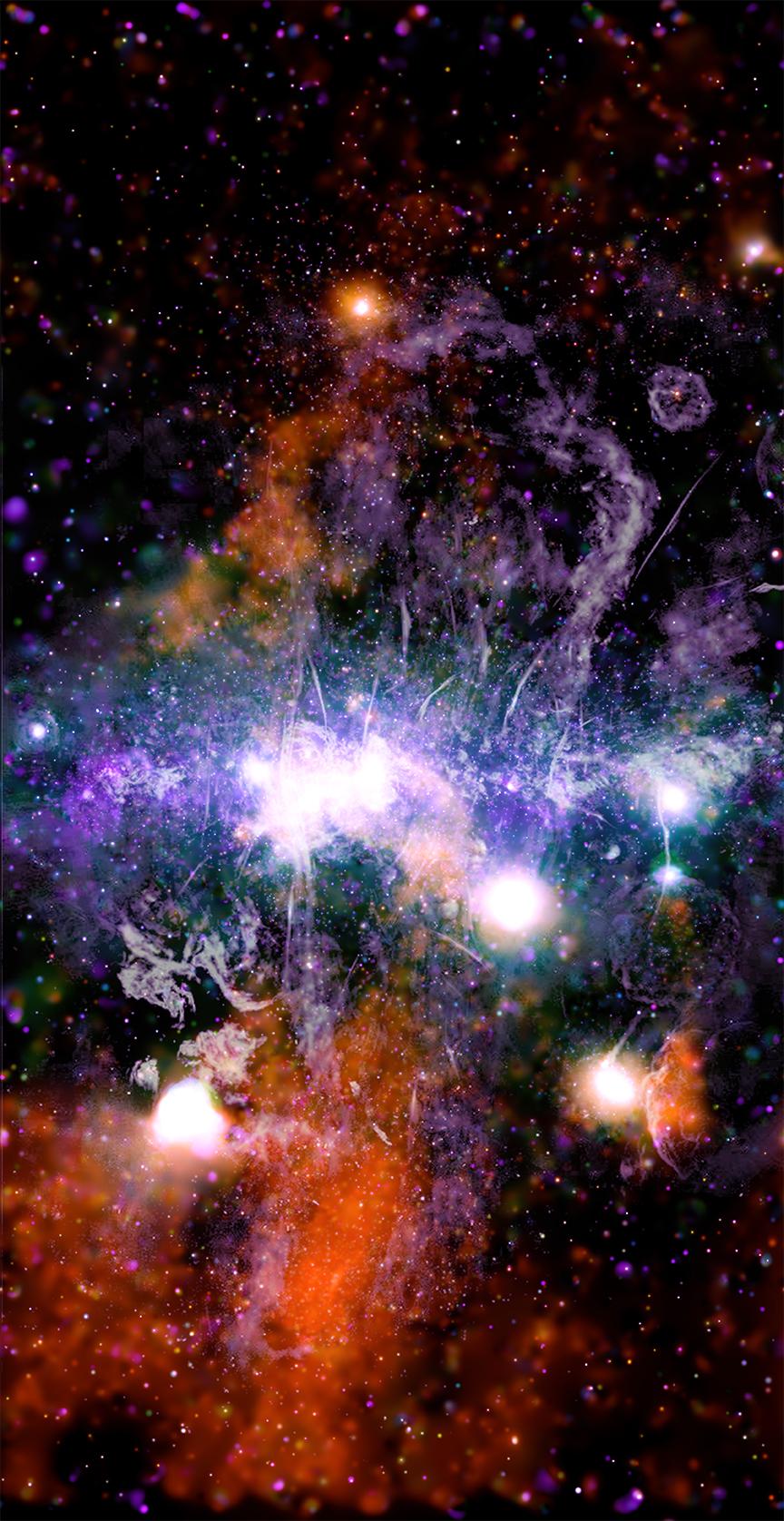 Gambar komposit pusat galaksi