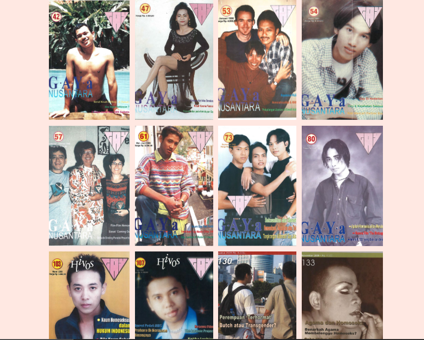 Kompilasi sampul majalah GAYa Nusantara. Foto oleh GAYa Nusantara
