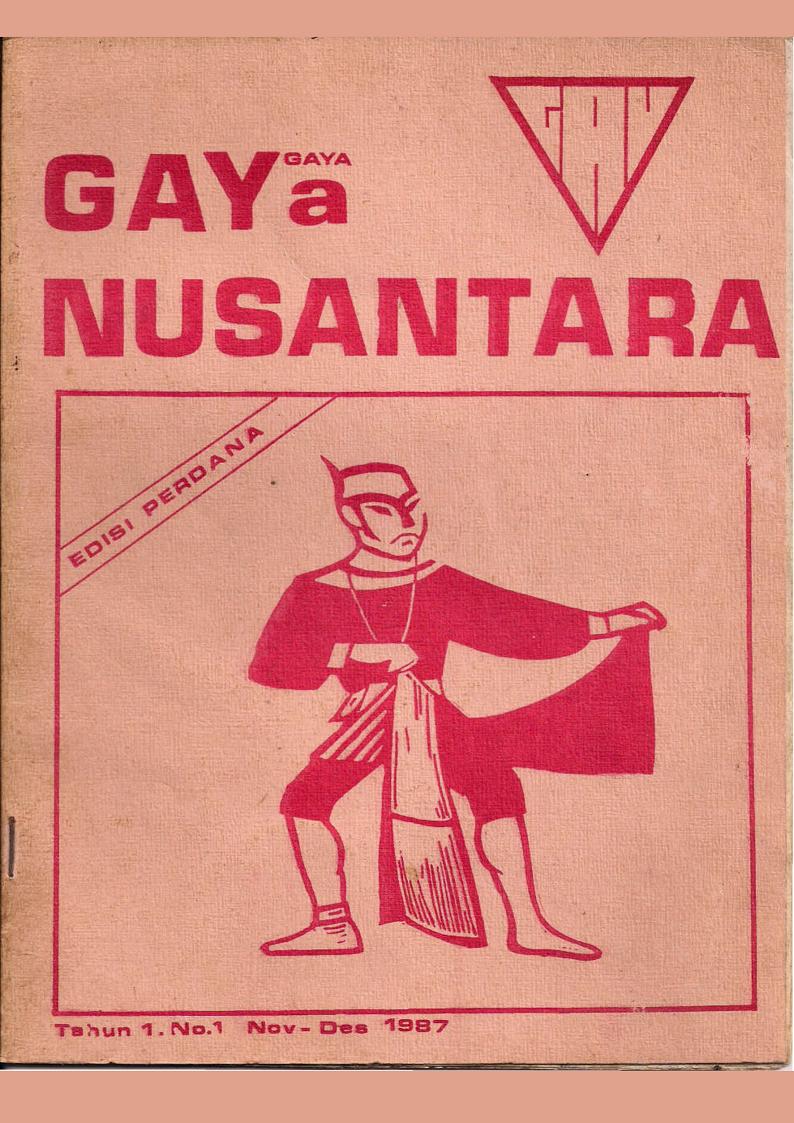 Sampul majalah GAYa Nusantara, salah satu majalah LGBTQ+ terkenal di Indonesia. Foto oleh GAYa Nusantara.