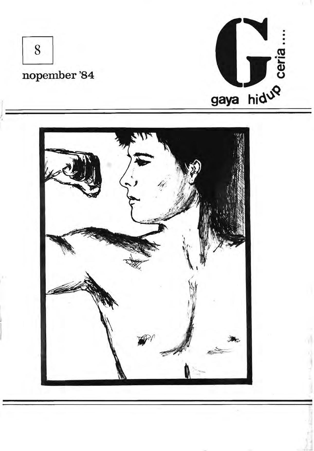 Sampul majalah Gaya Hidup Ceria pada 1982. Foto oleh Queer Indonesia Archive.
