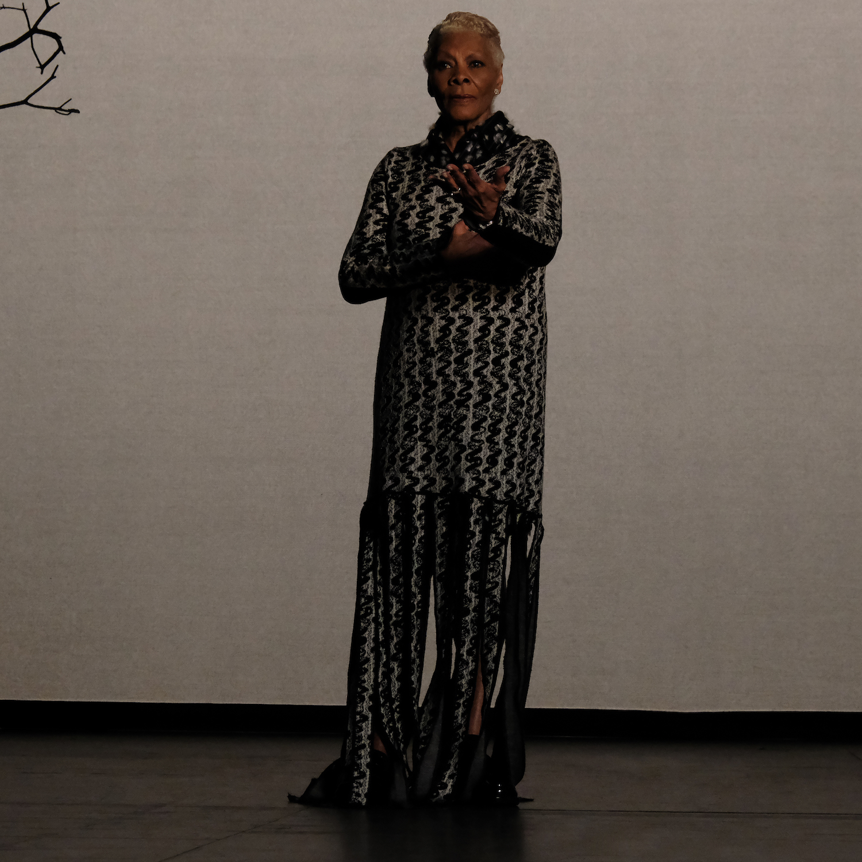 Dionne Warwick wearing Thebe Magugu's Woolmark Prize look