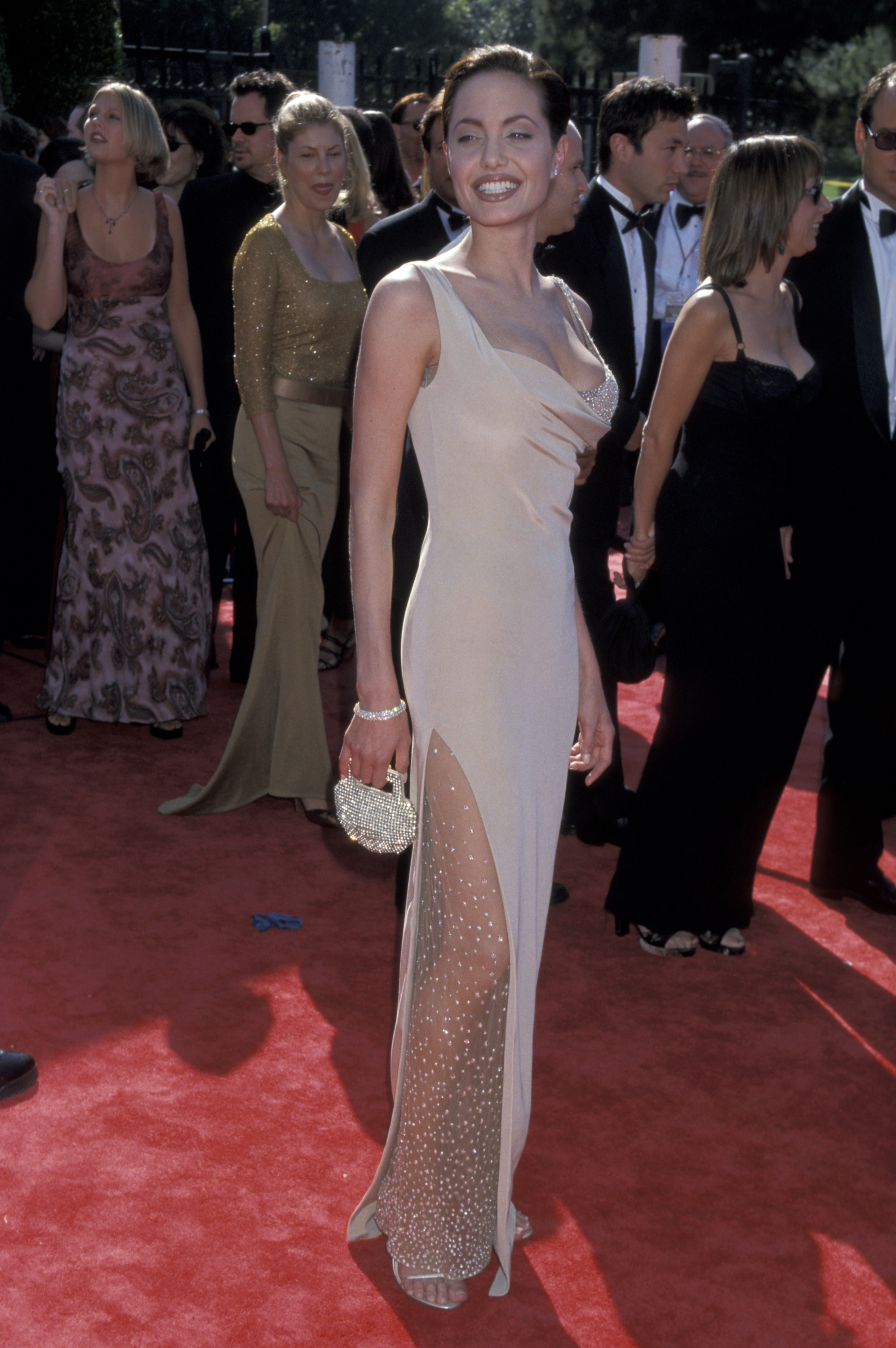 90s fashion: Angelina Jolie's red carpet style and iconic outfits - iD