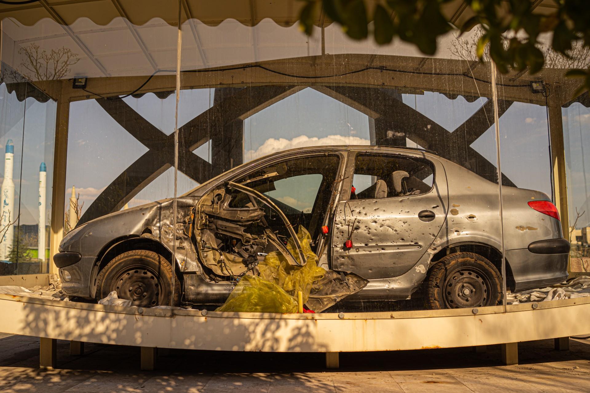 Mobil Fakhrizadeh yang diabadikan di Martyrs Museum.