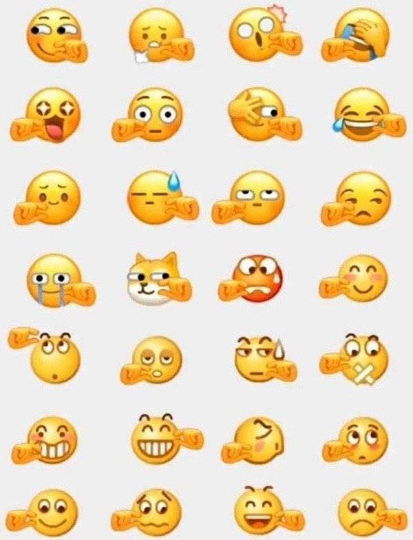 Emoji cubit dengan berbagai ekspresi