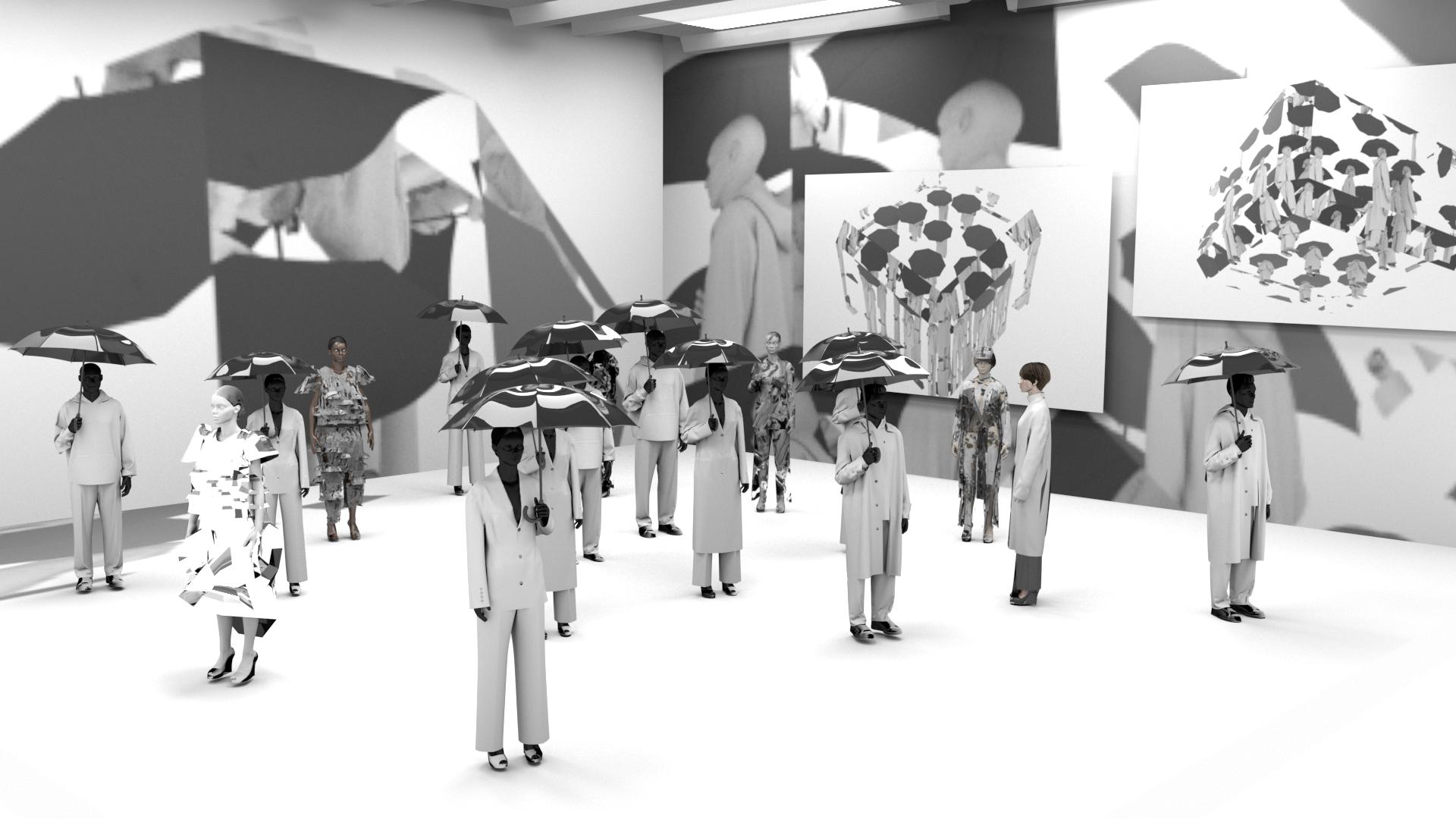 Stills from Kijeong Choi's RCA MA Fashion graduate project