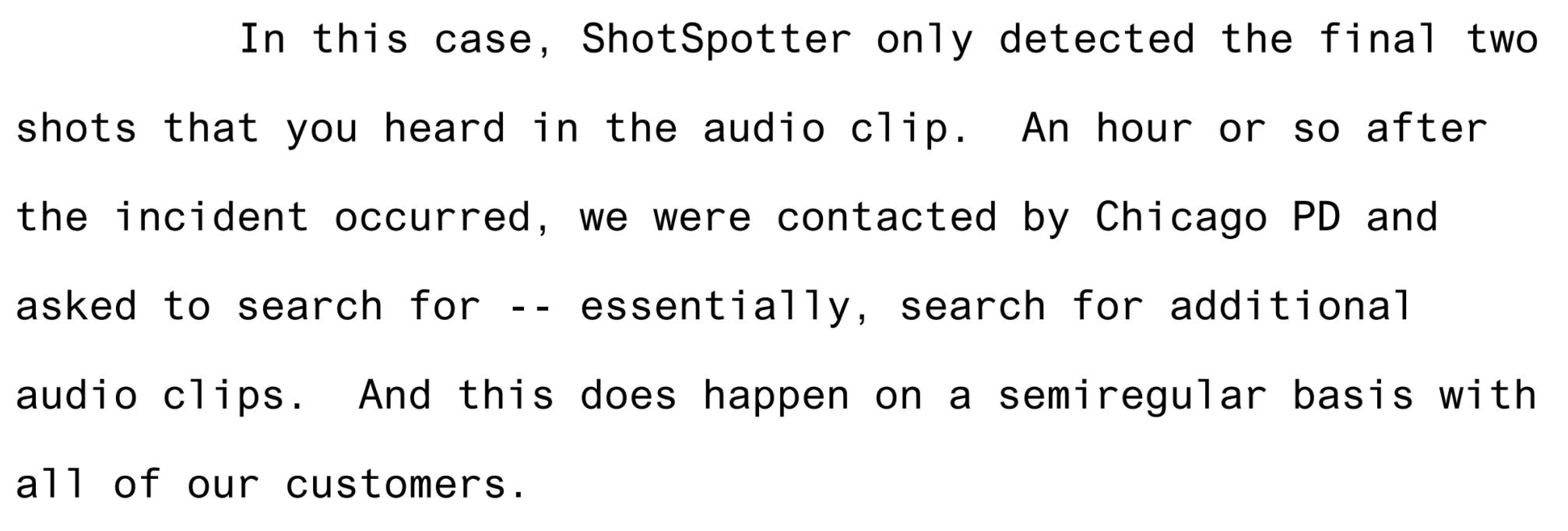 Paul Greene testimony screenshot