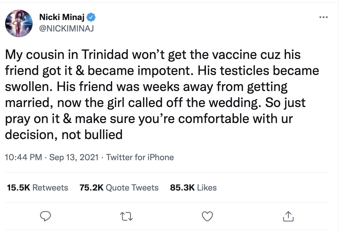Twitter/Nicki Minaj