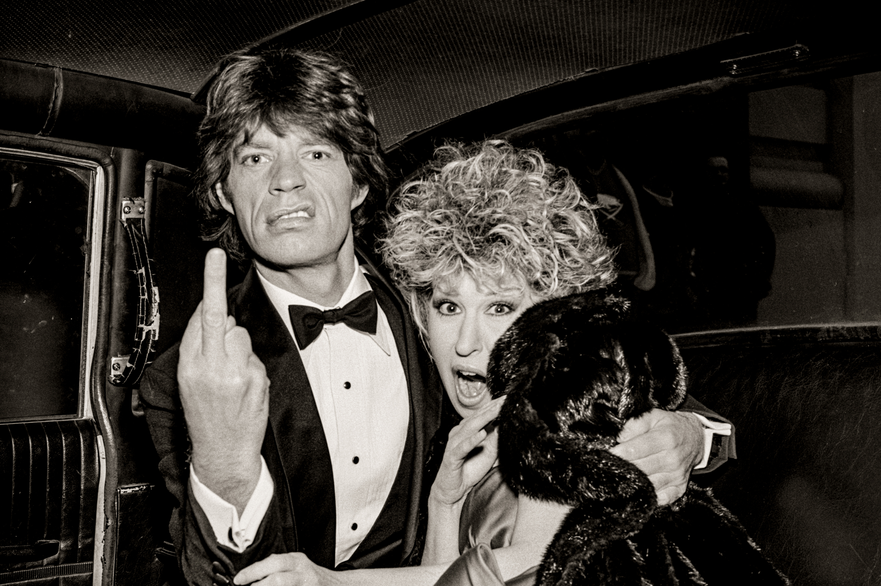 Mick Jagger and Bette Midler