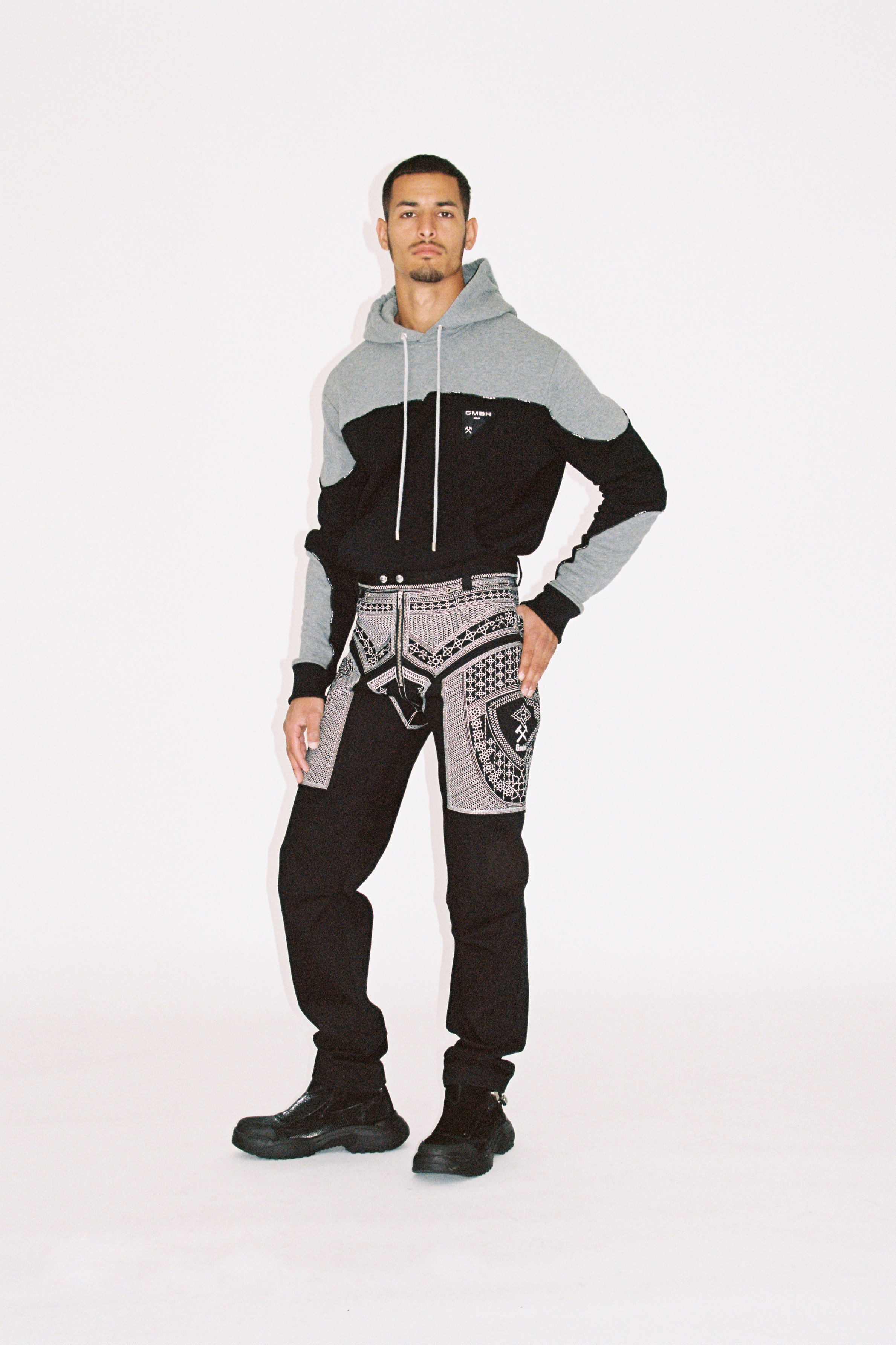 A model wearing GmbH AW21 pre-collection
