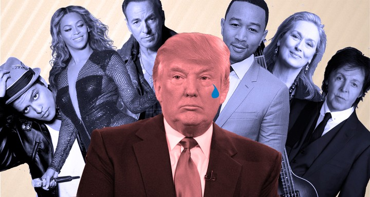 Donald Trump, a Tremendous Loser, Has No Famous Friends, Sad!