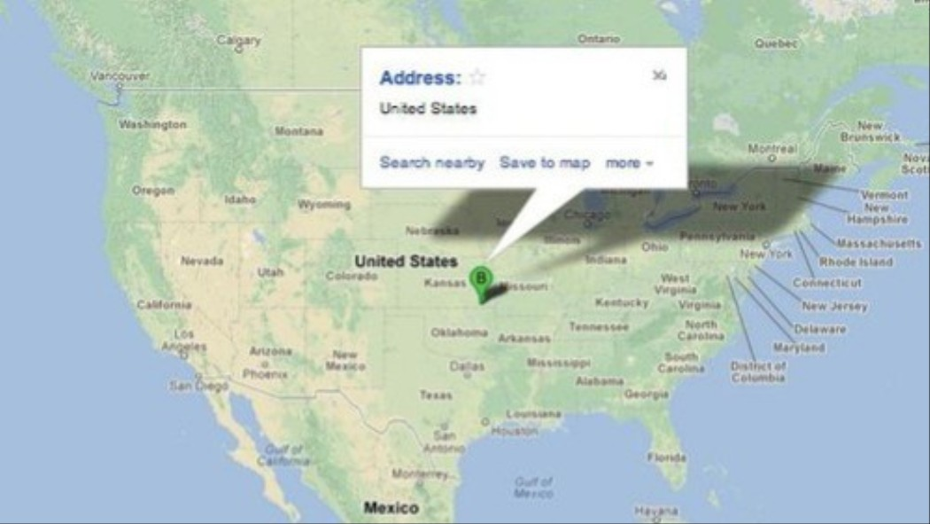 According To Google The Heart Of America Is In Independence - Us map independence