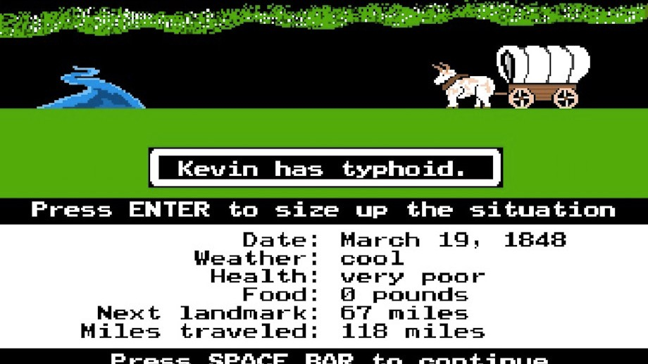Image result for oregon trail gameplay