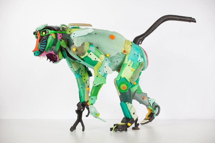 Garbage Sculptured in the Shape of Endangered Species