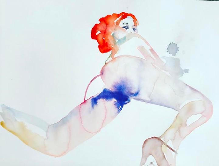 Sensual, Ethereal Watercolors Reinterpret the Female Form