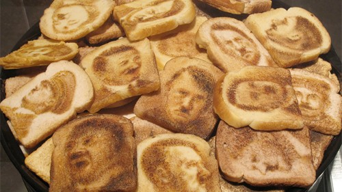 Image result for hitler on piece of toast