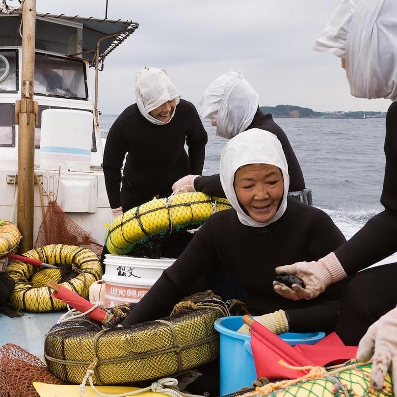 bertemu nenek penyelam spesialis mencari bahan baku seafood di