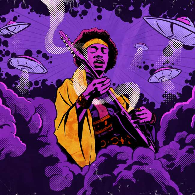 Image result for jimi hendrix purple
