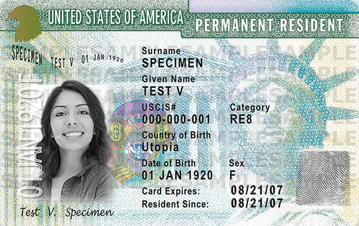 What is a green card 83