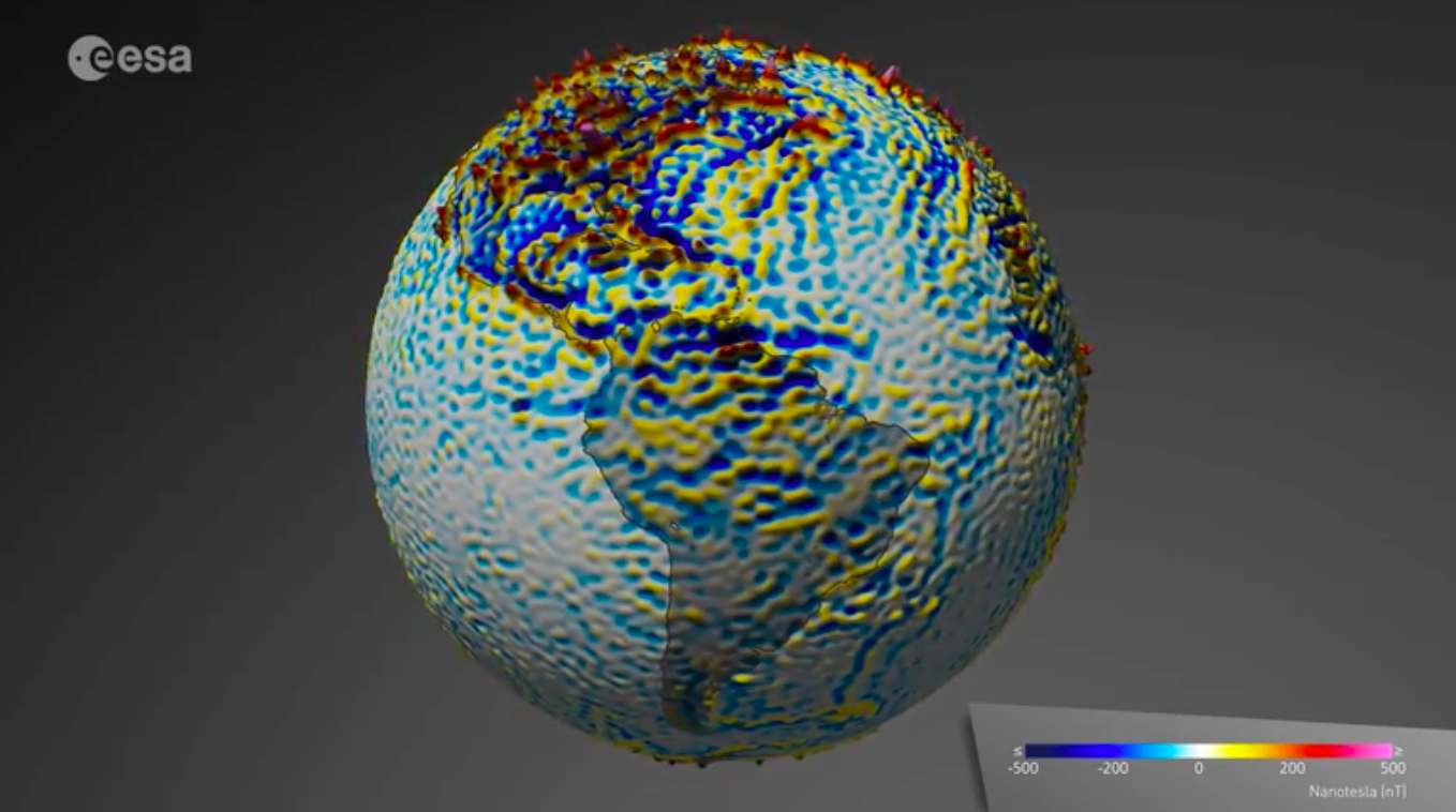 Magnetic Anomaly Map Of The World.This Kaleidoscopic Visualization Maps Earth S Mysterious Magnetic