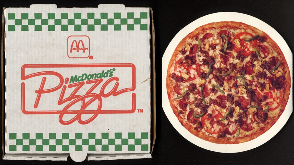 Retro: Weird Items that Disappeared Off the Menu - McDonald's Pizza