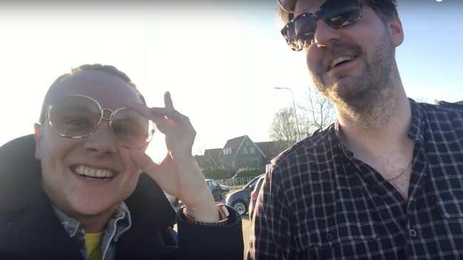 Selfie van grote lul