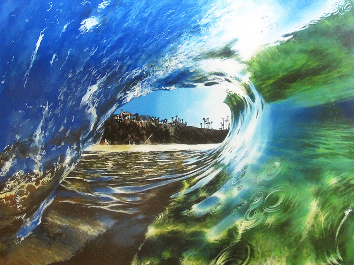 These Incredible Wave Paintings Are Sublimely Lit