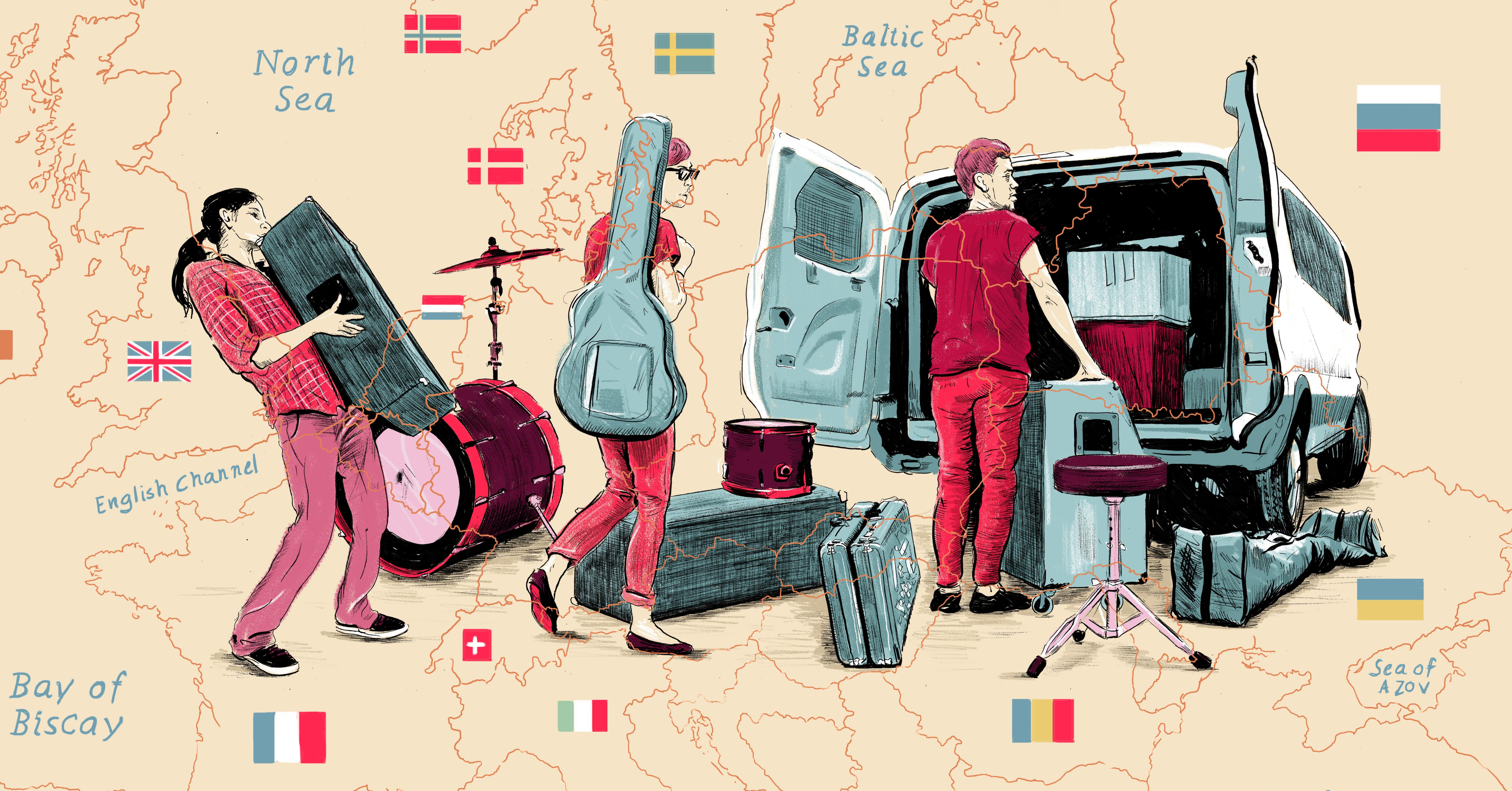 a8e0942221 How to Book a European Tour as a Broke American with No Money or Industry  Contacts - Noisey